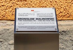 The plaque dedicated to Bronislaw Malinowski in Piazza Gries, Bolzano-Bozen. Photo by I.M. Carta