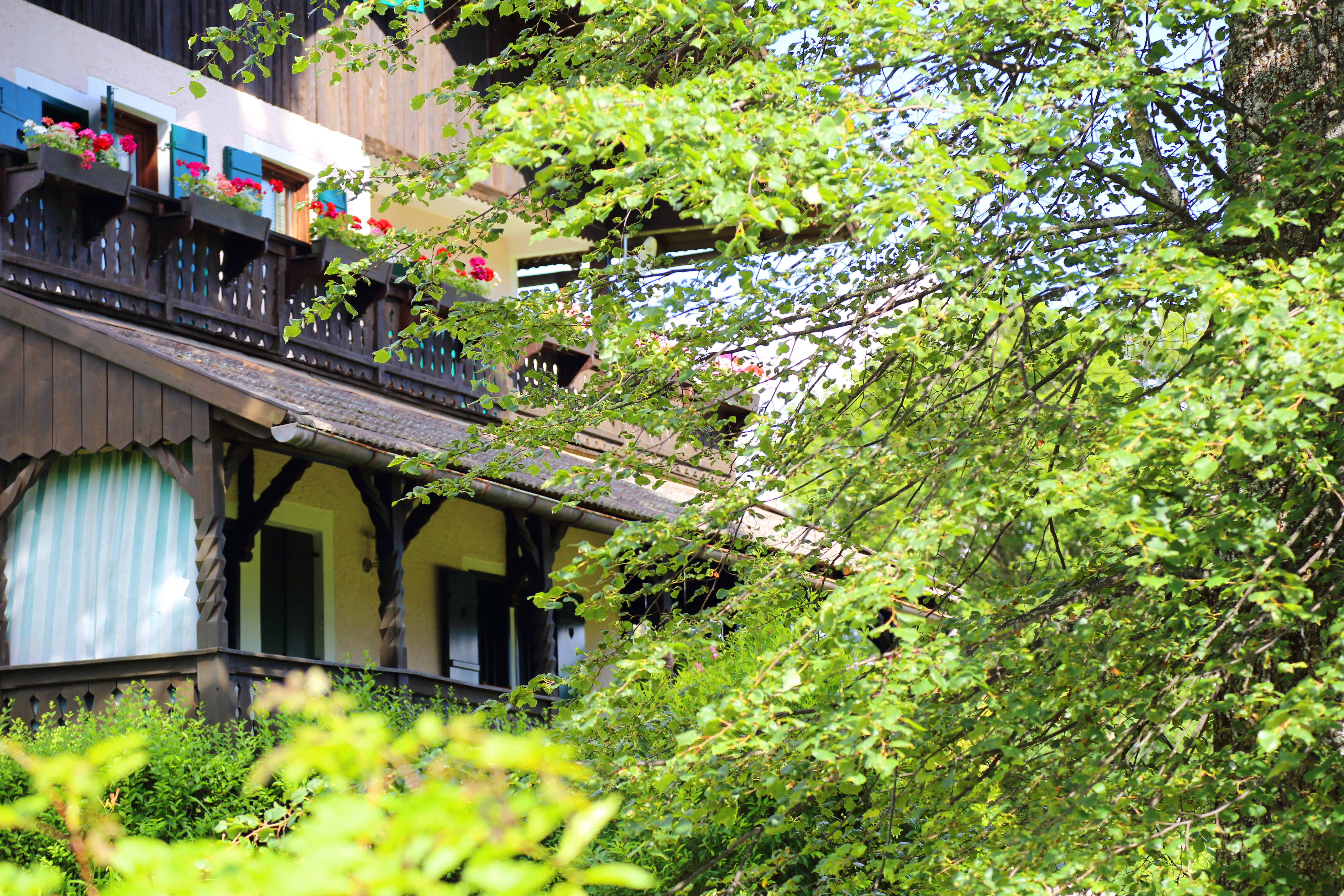 A view of the veranda of Malinowskis' house in Oberbozen. Photo by I.M.Carta